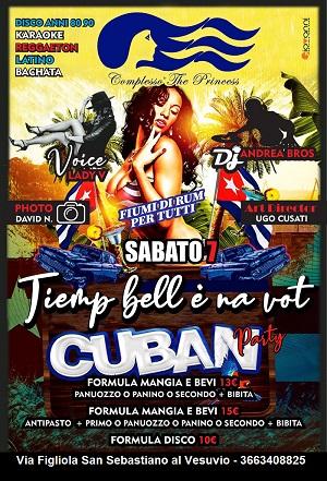 PRINCESS Discopub San Sebastiano al Vesuvio Sabato 7 Dicembre Party Cubano karaoke e Latino