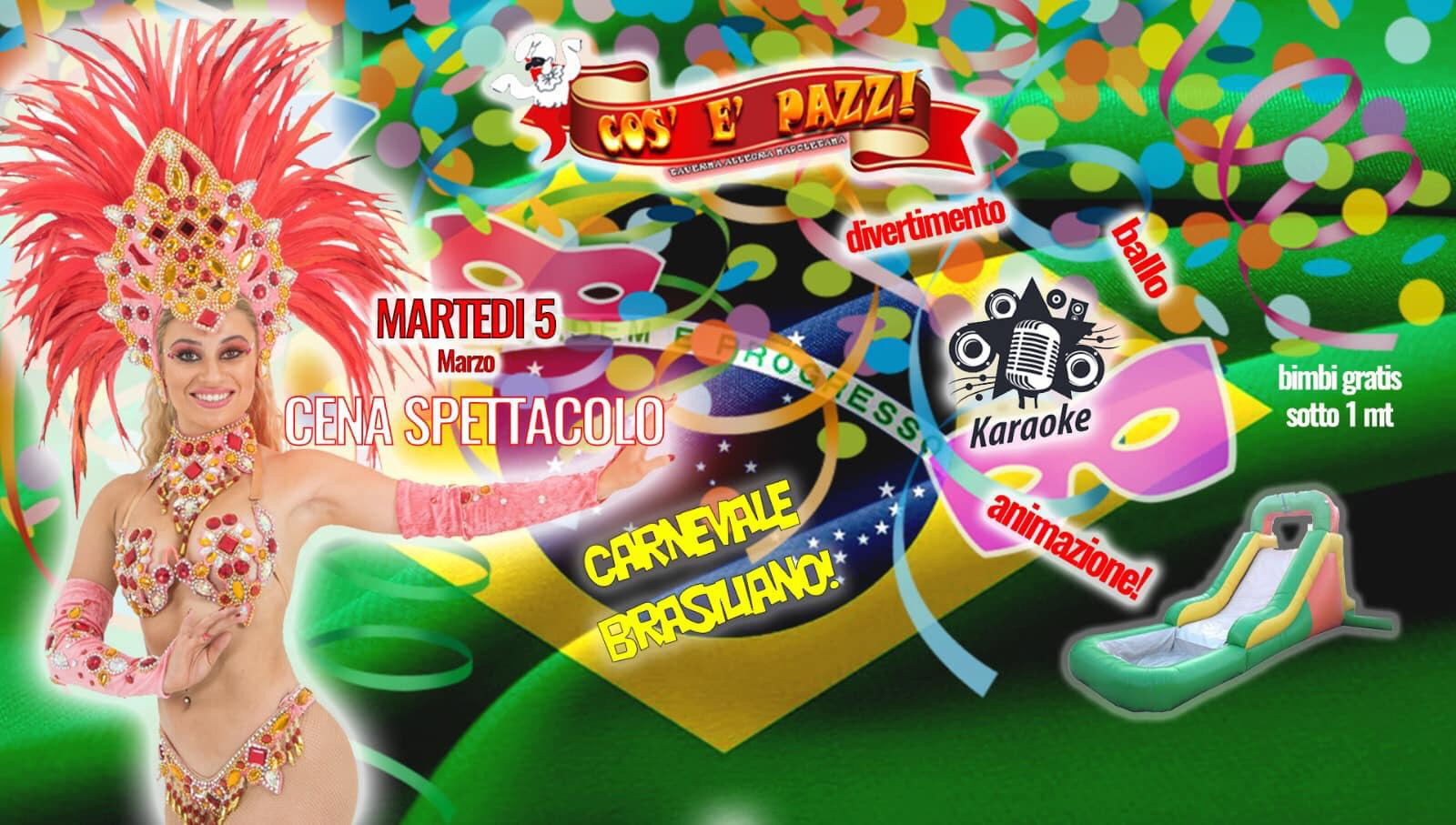 Taverna COS E PAZZ Licola martedì 5 marzo PARTY DI CARNEVALE