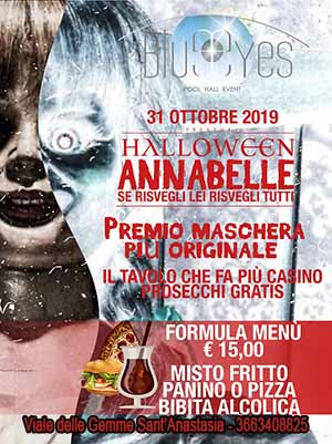 BLUE EYES Discopub Sant'Anastasia Giovedi 31 Ottobre HALLOWEEN PARTY