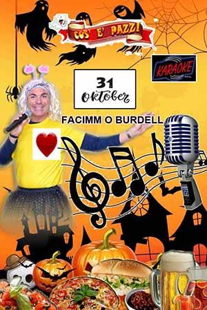 Taverna COS E PAZZ Licola Giovedì 31 Ottobre HALLOWEEN PARTY e FABIO BRESCIA