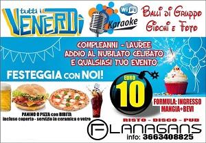 FLANAGANS Discopub Aversa Venerdi